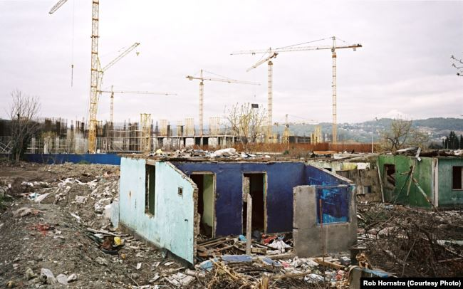 In Sochi, villages were bulldozed to make way for massive complex construction. RFE/RL